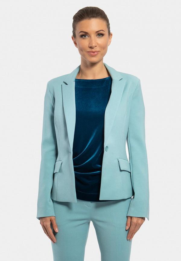 женский пиджак vladi collection, голубой