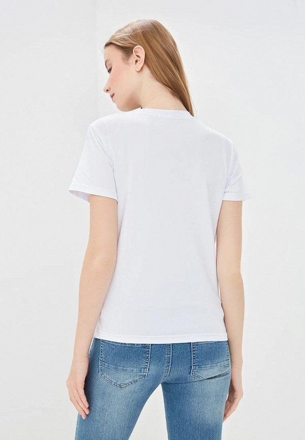 Фото 3 - Женскую футболку Chic mama белого цвета