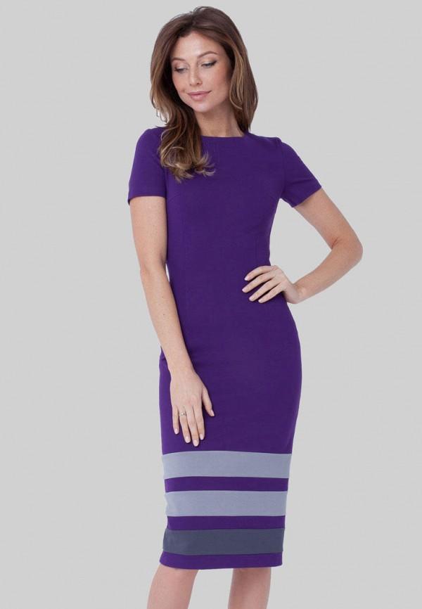женское платье-футляр olga skazkina, фиолетовое
