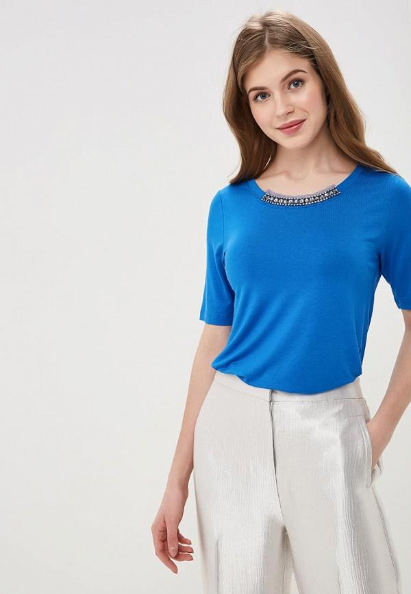 женская футболка madeleine, синяя