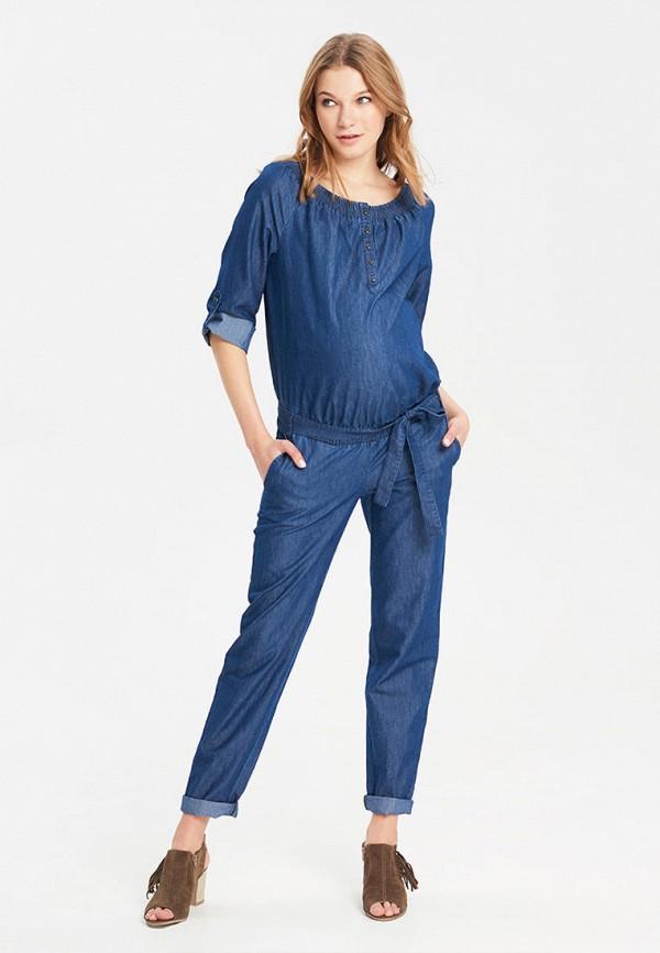 женский джинсовые комбинезон budumamoy, синий