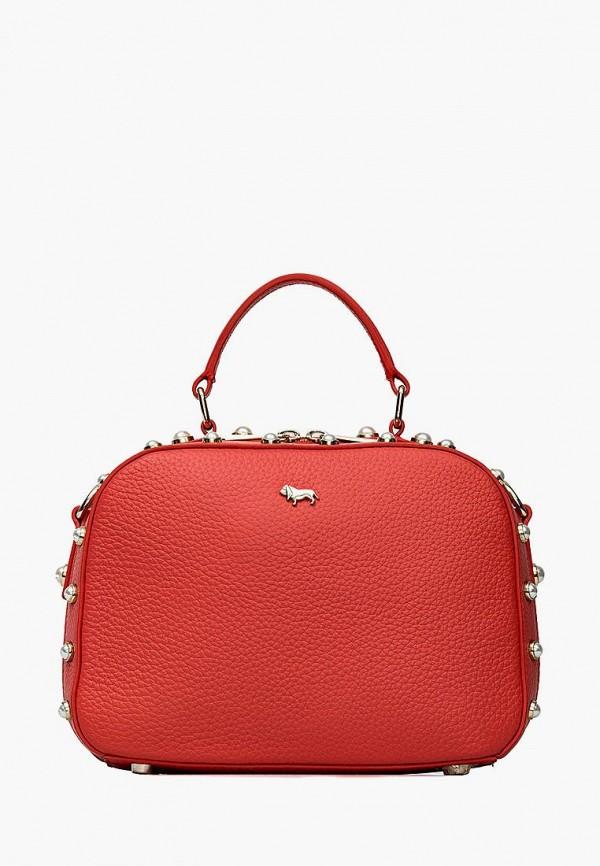 женская сумка с ручками labbra, красная