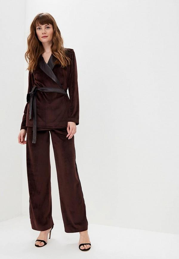 женский костюм forlife, коричневый