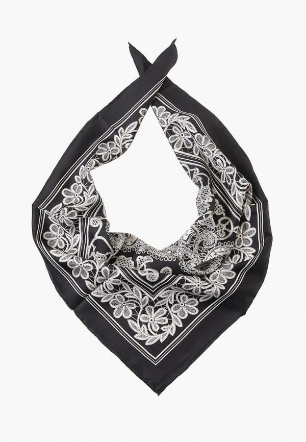 Платок Dr.Koffer Dr.Koffer MP002XW1IQA3 платок черный с ландышами