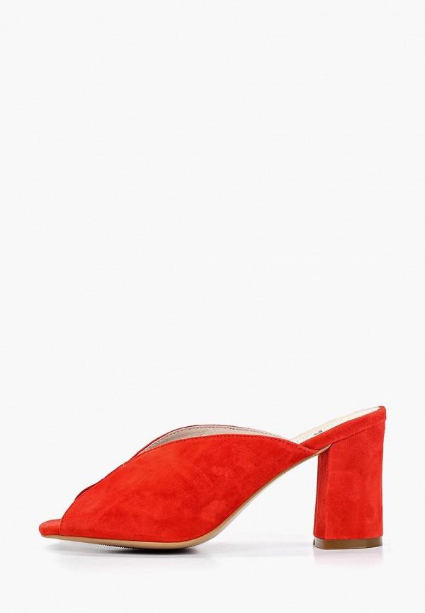 женское сабо pierre cardin, красное
