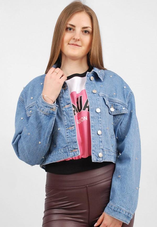 женская джинсовые куртка sab, синяя