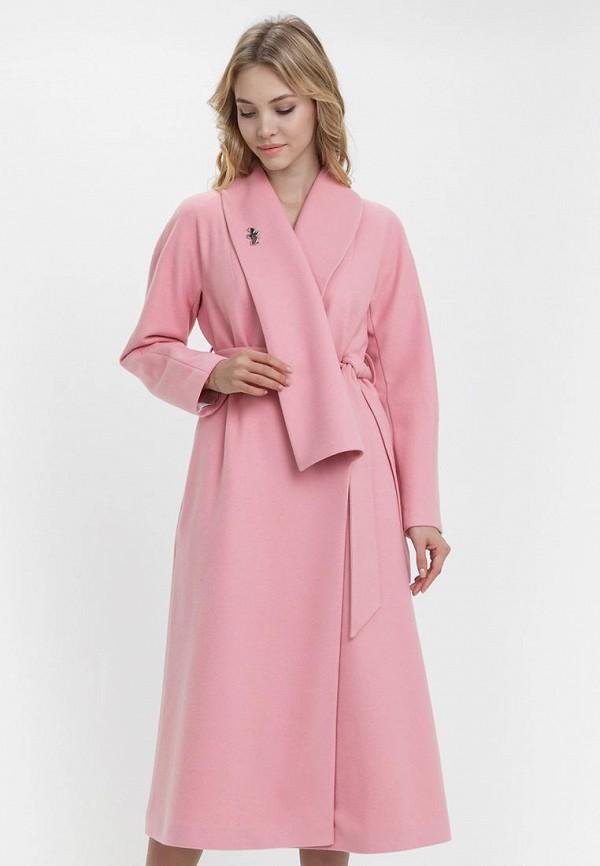 женское пальто audrey right, розовое
