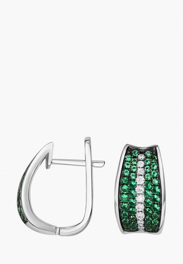 Серьги Valtera Valtera MPJWLXW000LE coolsir серебряный зеленый