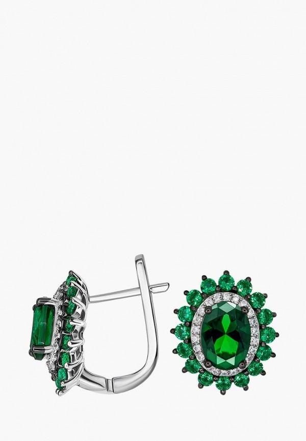 Серьги Valtera Valtera MPJWLXW000LK coolsir серебряный зеленый