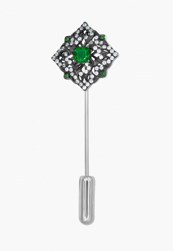 Брошь Valtera Valtera MPJWLXW000Q4 coolsir серебряный зеленый