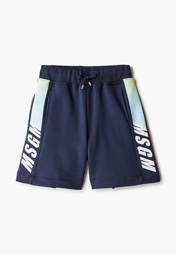 шорты msgm kids для мальчика, синие
