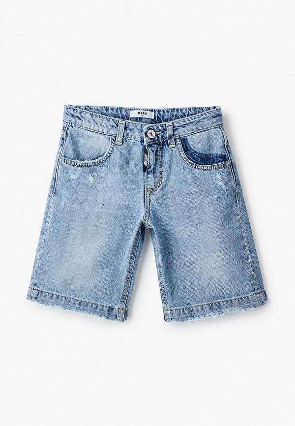 Шорты джинсовые MSGM Kids голубого цвета