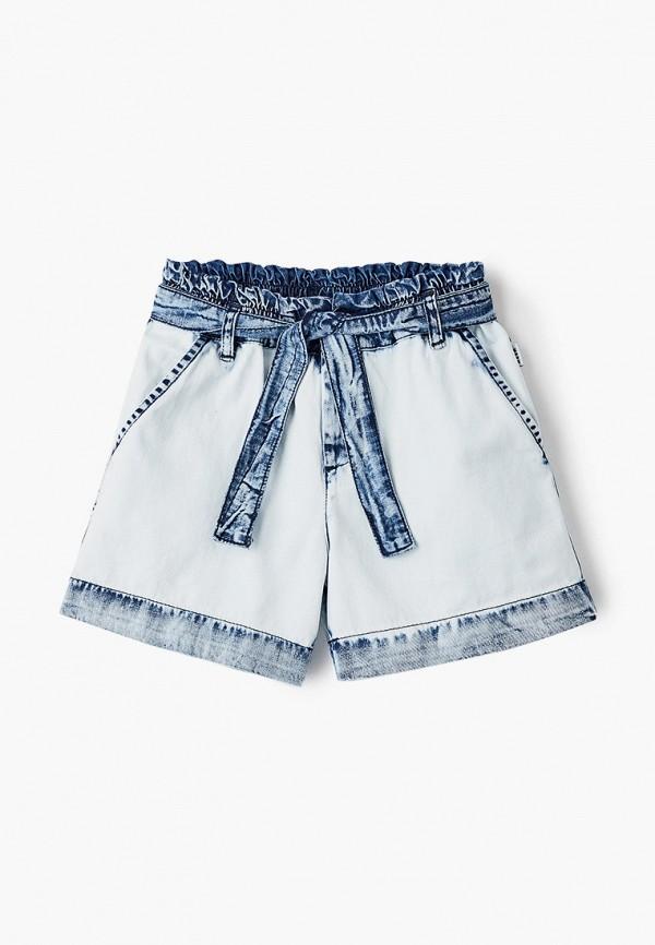 шорты msgm kids для девочки, голубые