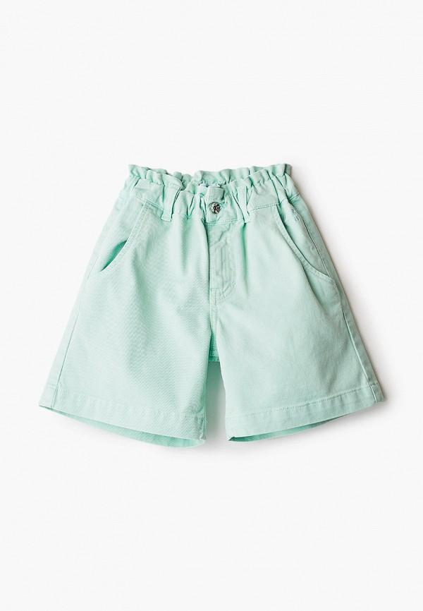шорты msgm kids для девочки, бирюзовые