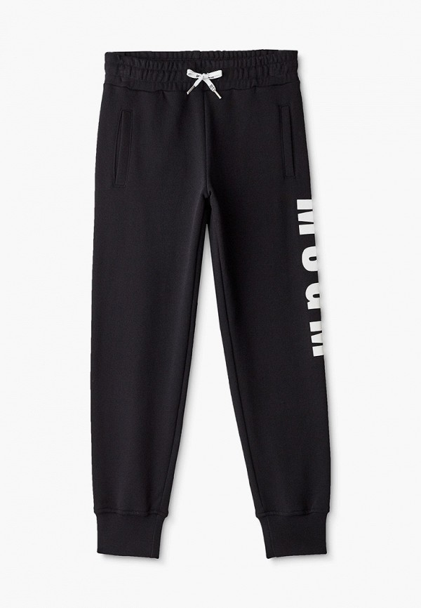 спортивные брюки msgm kids малыши, черные