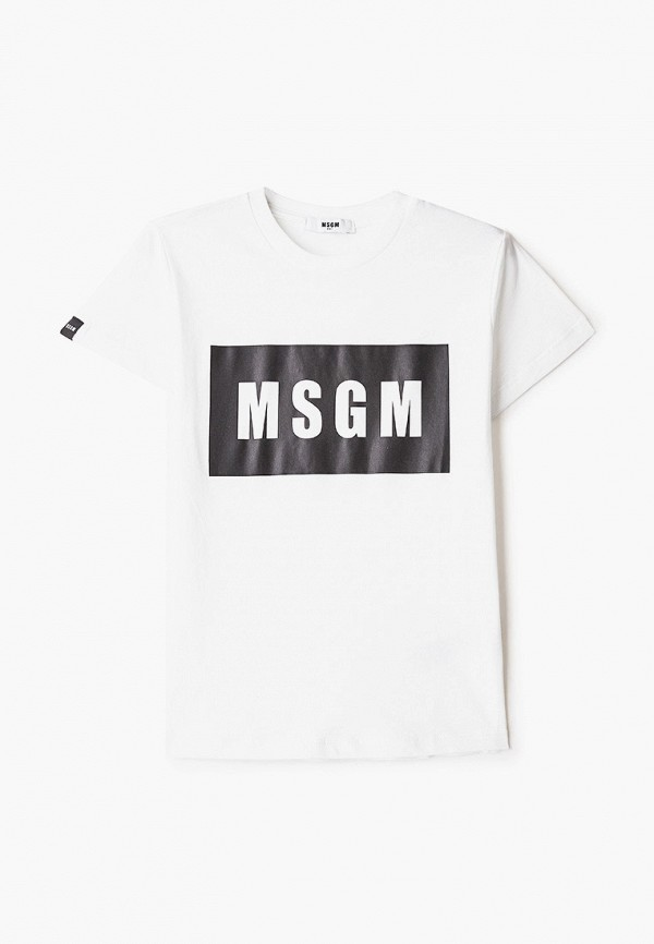 футболка с коротким рукавом msgm kids малыши, белая