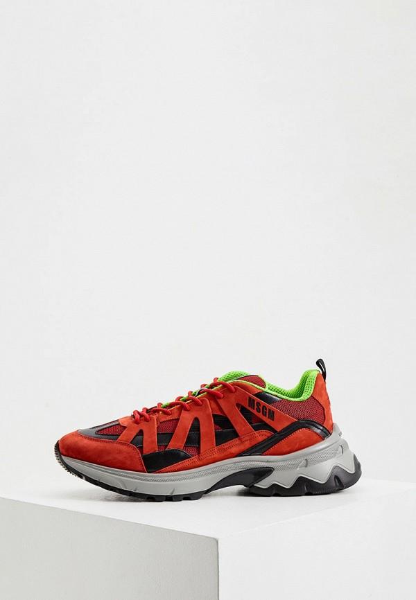 мужские кроссовки msgm, красные