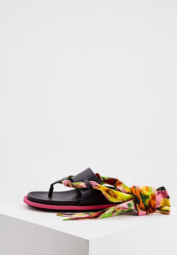 женские сандалии msgm, черные