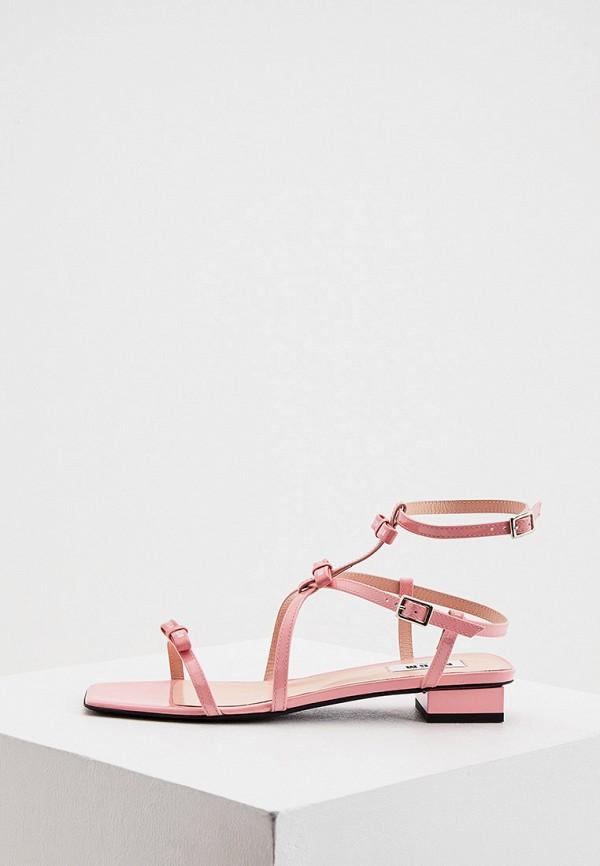 женские сандалии msgm, розовые