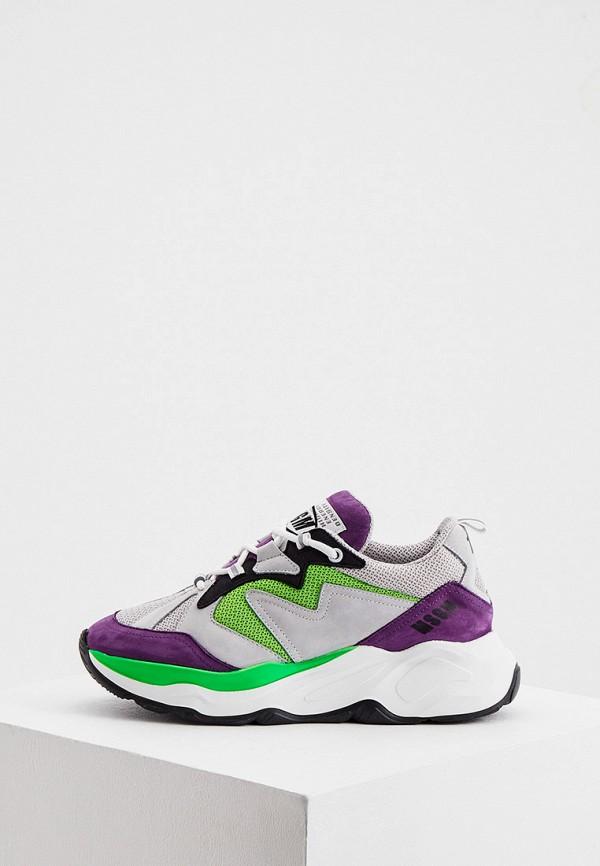 женские кроссовки msgm, разноцветные