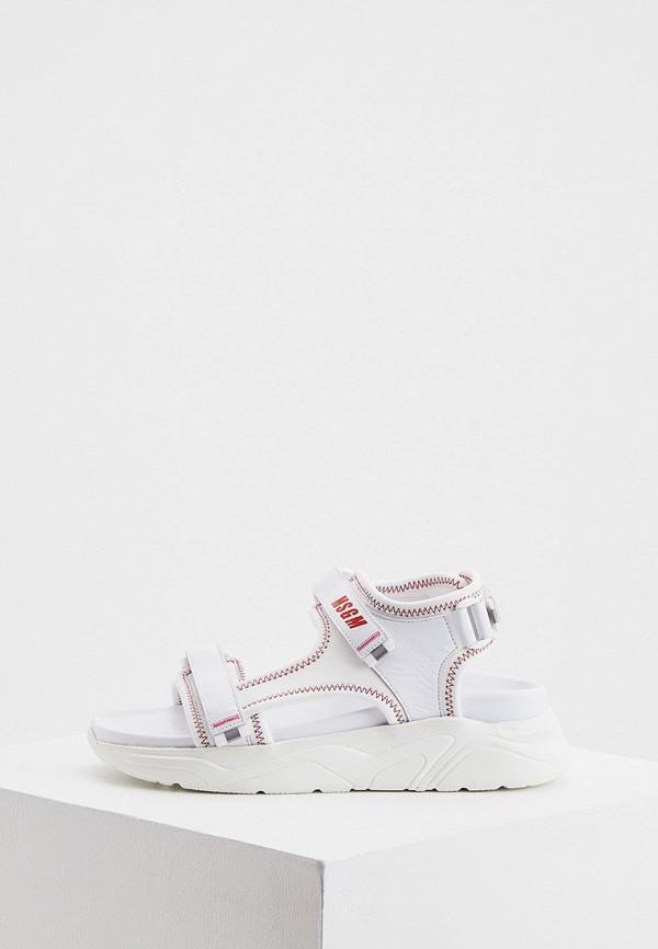 женские сандалии msgm, белые