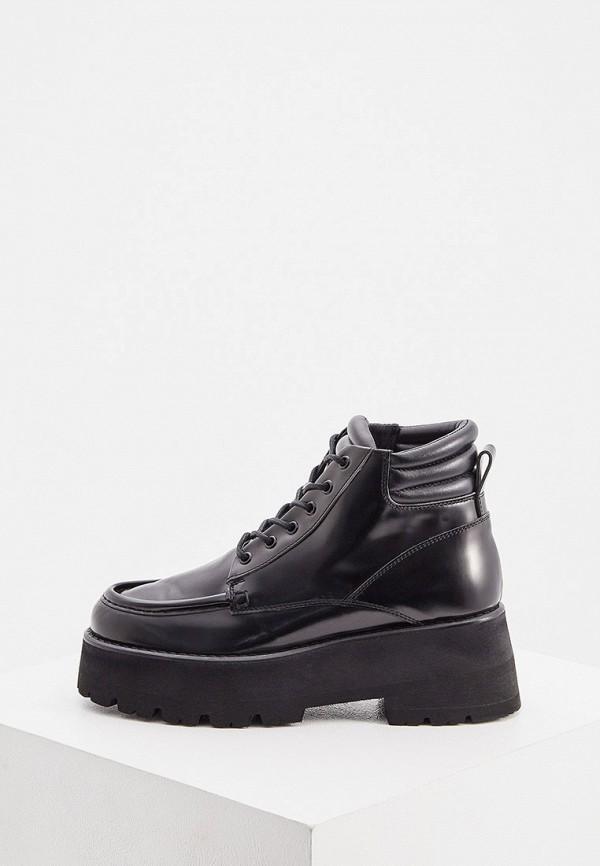 женские ботинки msgm, черные