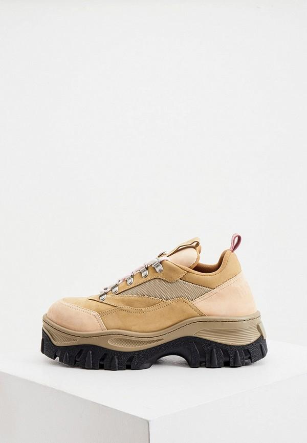 женские кроссовки msgm, бежевые