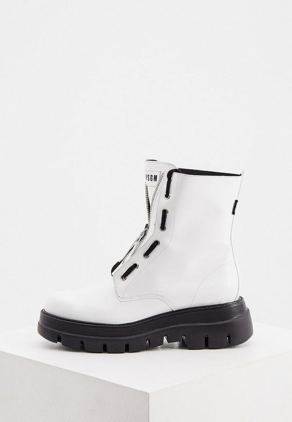 женские ботинки msgm, белые