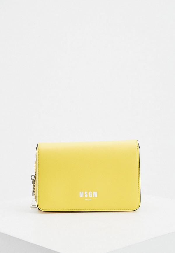 женская сумка msgm, желтая