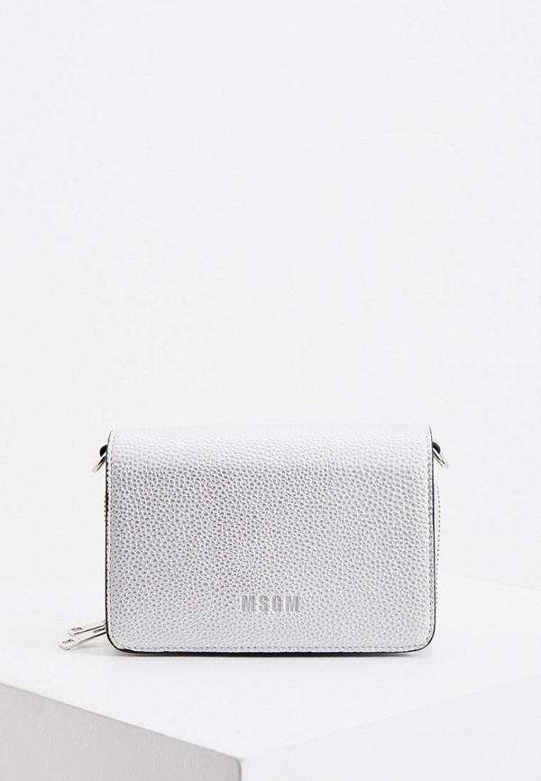 женская сумка msgm, серебряная