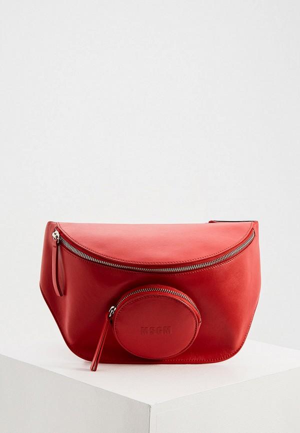 женская сумка msgm, красная