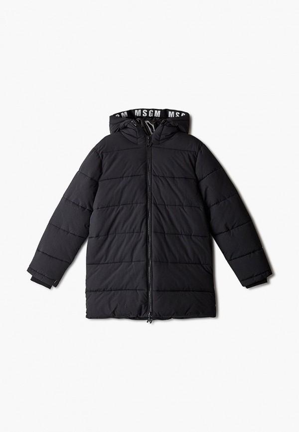 куртка msgm для мальчика, черная