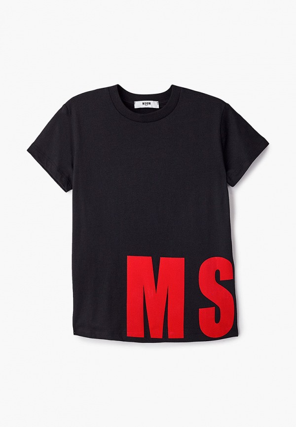 футболка с коротким рукавом msgm для мальчика, черная