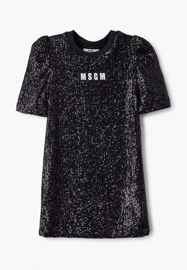 платье msgm для девочки, черное