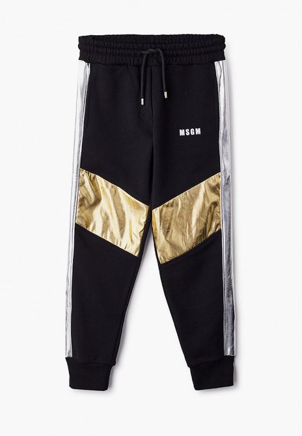 спортивные брюки msgm для девочки, черные