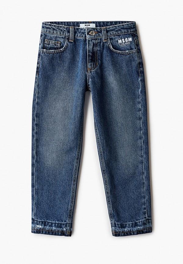 джинсы msgm для девочки, синие