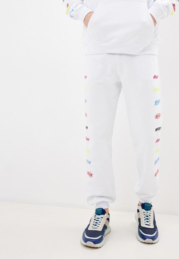 мужские спортивные брюки msgm, белые