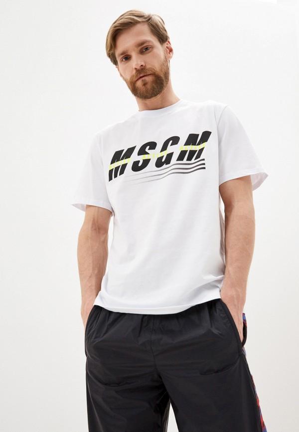 мужская футболка msgm, белая