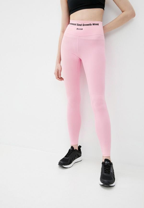 женские леггинсы msgm, розовые