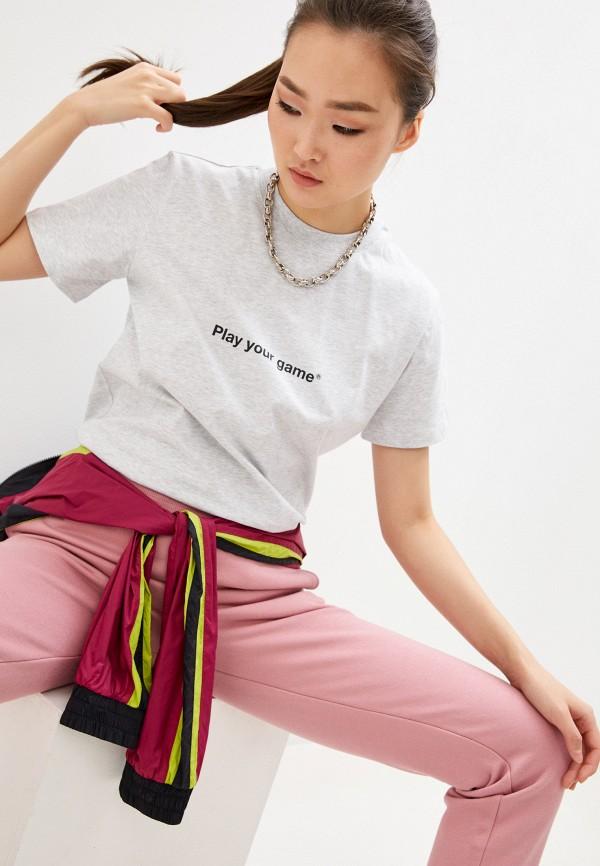 женская футболка msgm, серая