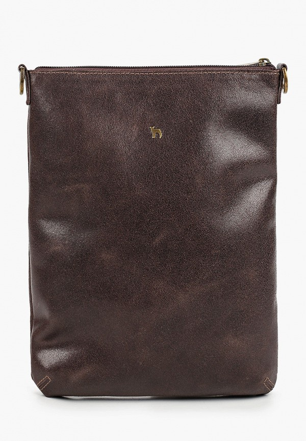 мужская сумка через плечо mumi, коричневая