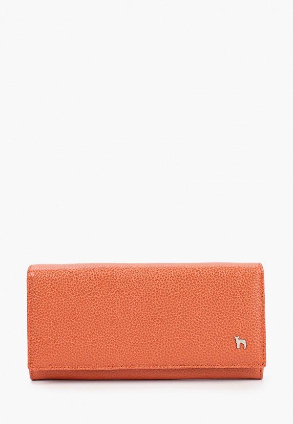 женский кошелёк mumi, оранжевый