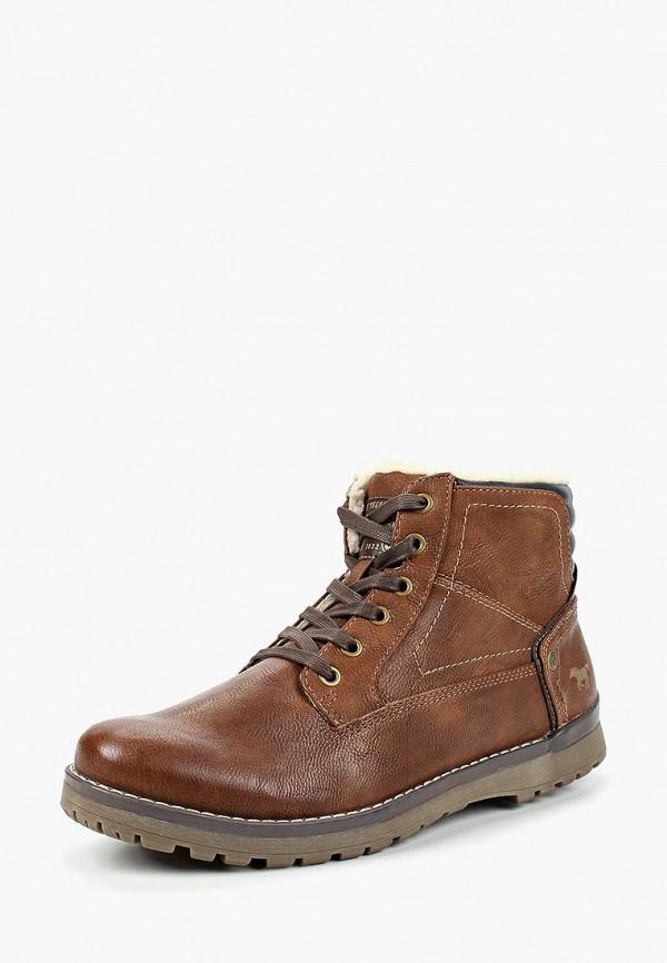 мужские ботинки mustang, коричневые