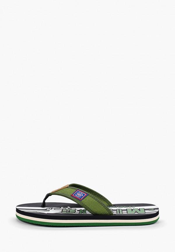 мужские сланцы mustang, зеленые