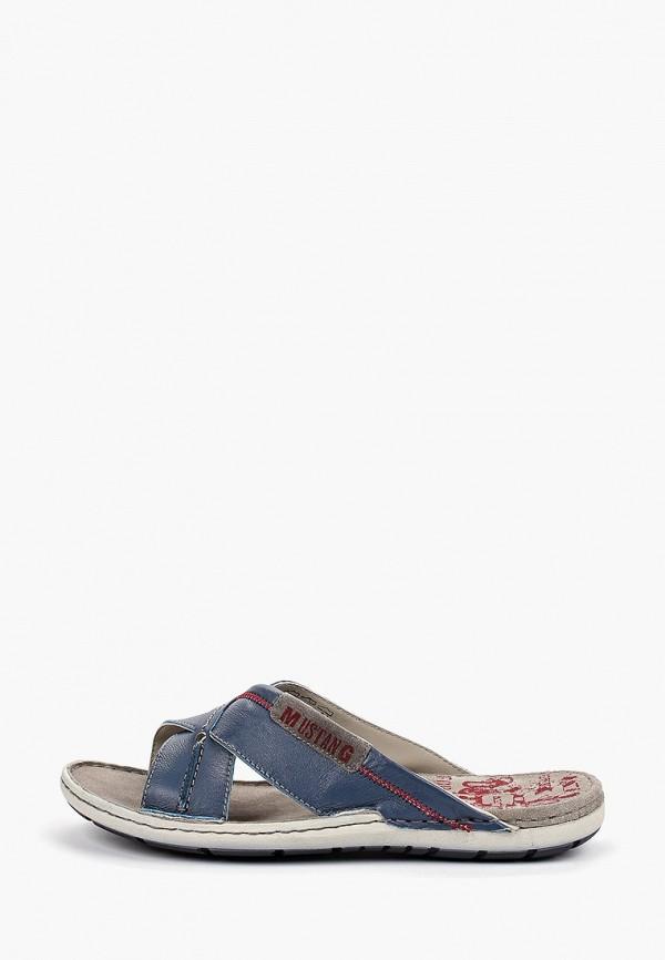 мужские сандалии mustang, синие
