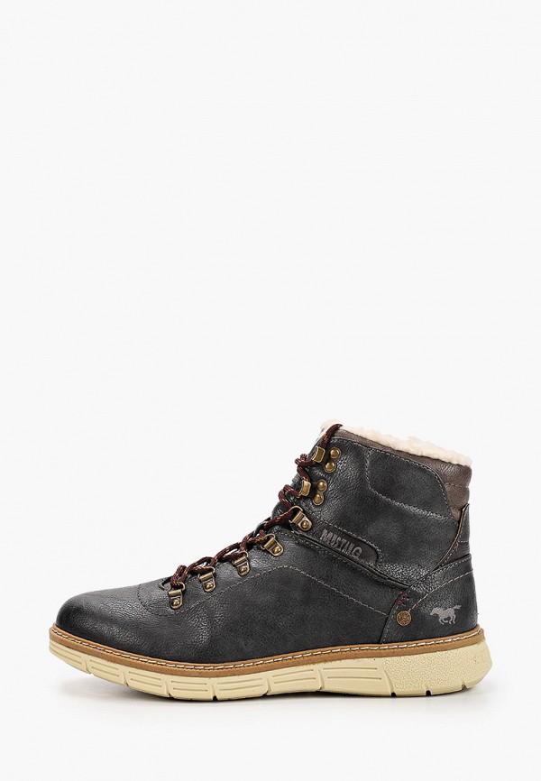 мужские ботинки mustang, серые