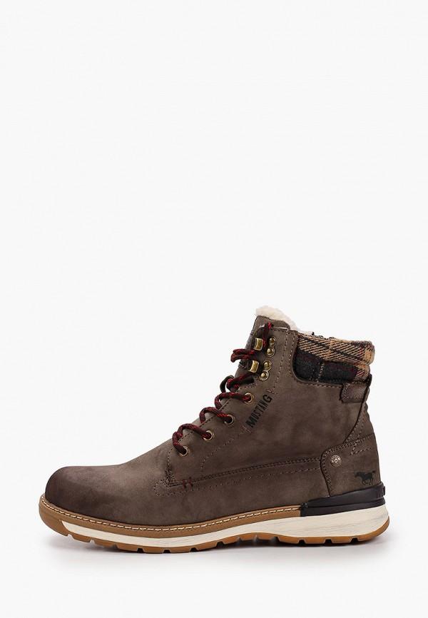 мужские ботинки mustang, бежевые