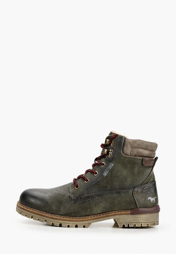мужские ботинки mustang, хаки