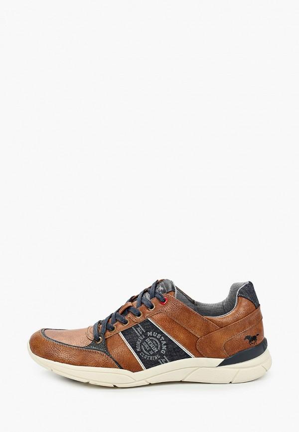 мужские кроссовки mustang, коричневые