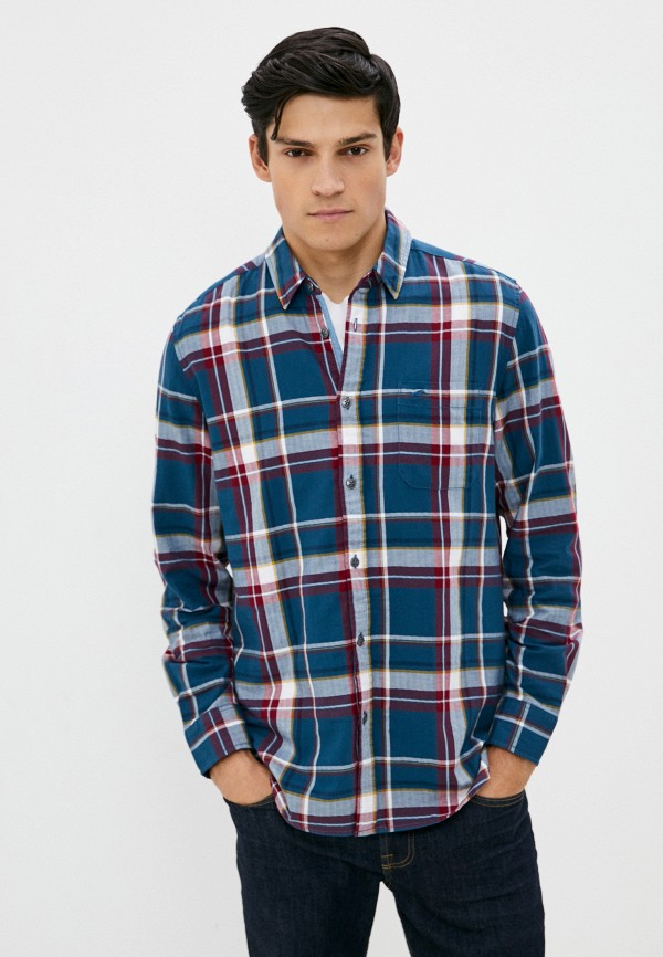 мужская рубашка с длинным рукавом mustang, разноцветная